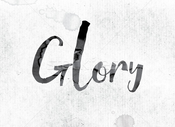 Glory Concept Painted in Ink Stock photo © enterlinedesign
