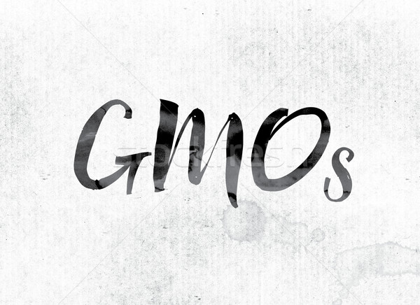 GMOs Concept Painted in Ink Stock photo © enterlinedesign