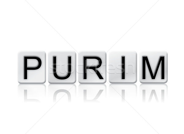 Purim Isolated Tiled Letters Concept and Theme Stock photo © enterlinedesign
