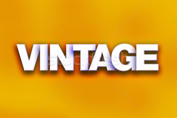 Vintage Concept Colorful Word Art Stock photo © enterlinedesign