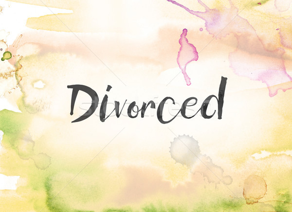 Divorced Concept Watercolor and Ink Painting Stock photo © enterlinedesign