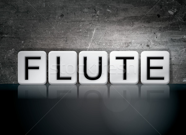 Flute Concept Tiled Word Stock photo © enterlinedesign