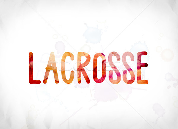 Lacrosse Concept Painted Watercolor Word Art Stock photo © enterlinedesign