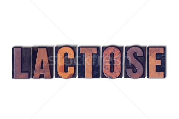 Lactose isolé mot écrit vintage Photo stock © enterlinedesign