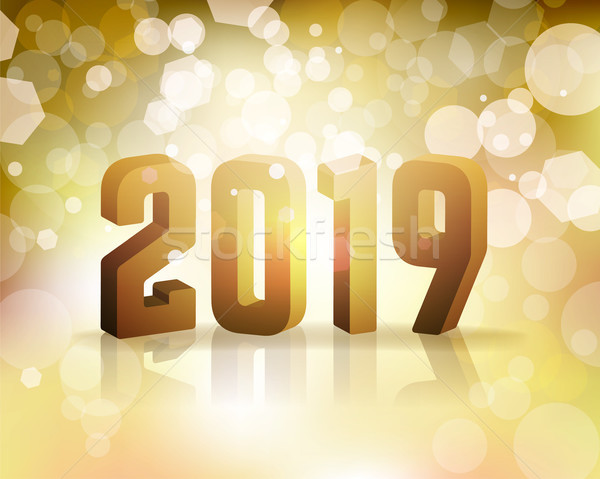 2019 New Year's Eve Concept Illustration Stock photo © enterlinedesign