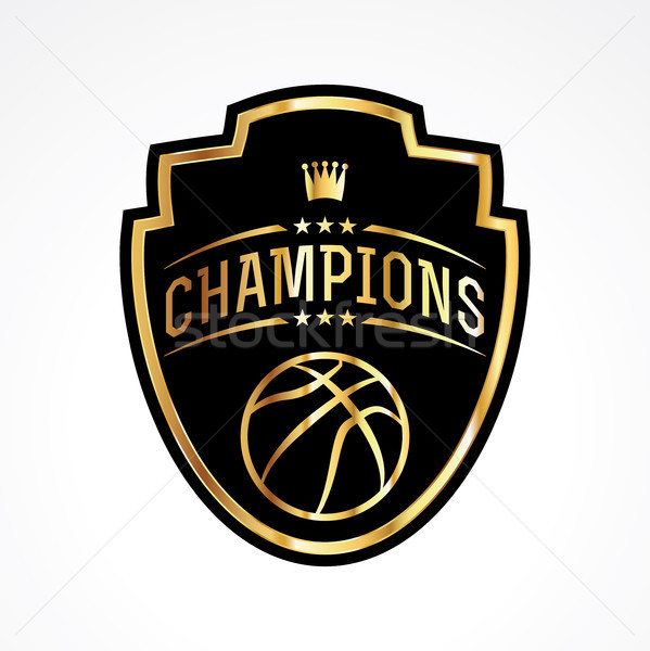 Basketball Champions Badge Emblem Illustration Stock photo © enterlinedesign
