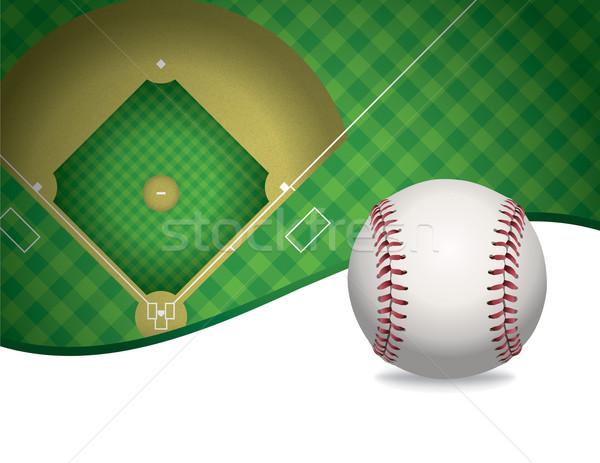Baseball baseball pálya illusztráció szoba másolat vektor Stock fotó © enterlinedesign