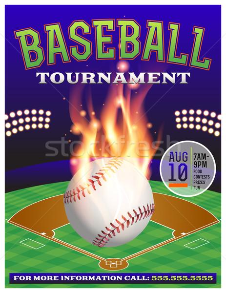 Baseball Tournament Illustration Stock photo © enterlinedesign
