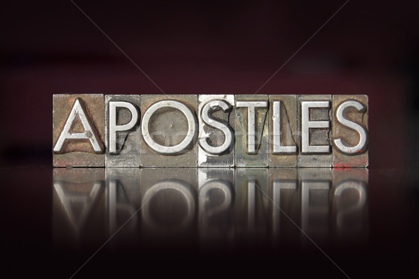 Stock photo: Apostles Letterpress
