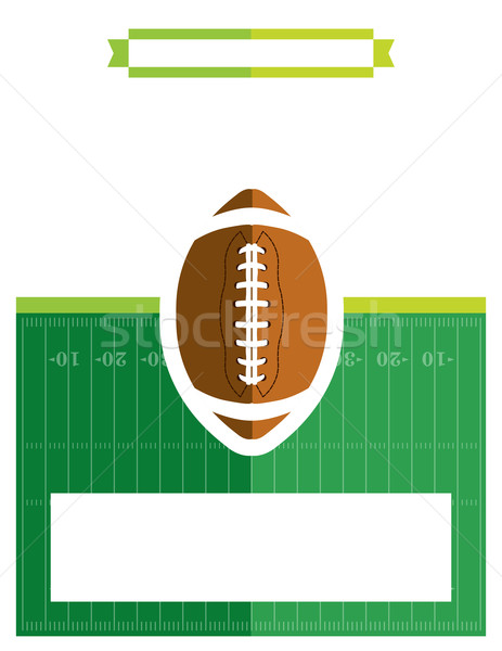 American Football Game Flyer Illustration Stock photo © enterlinedesign