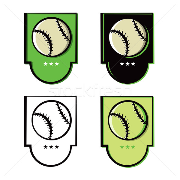 Baseball Emblem Icons Set Stock photo © enterlinedesign