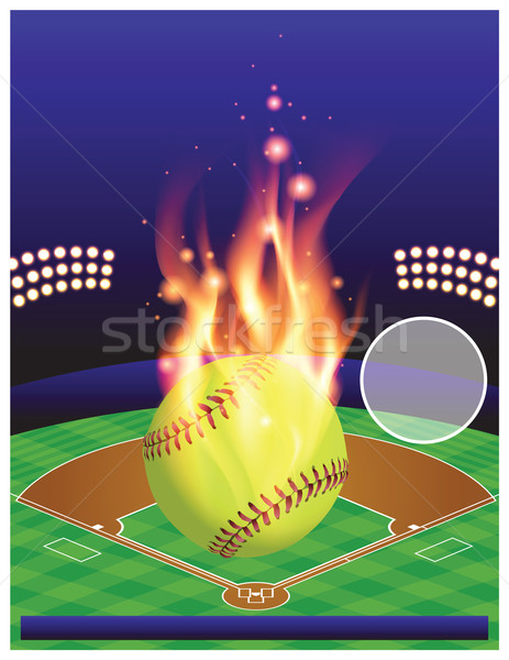 Vector Softball Tournament Illustration Stock photo © enterlinedesign