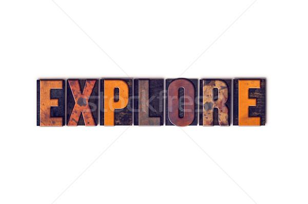 Isolado tipo palavra escrito Foto stock © enterlinedesign