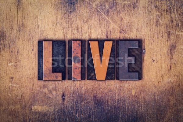Viver tipo palavra escrito Foto stock © enterlinedesign