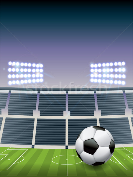 Soccer Football Stadium and Field Stock photo © enterlinedesign