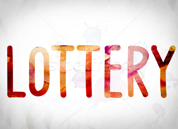 Lottery Concept Watercolor Word Art Stock photo © enterlinedesign