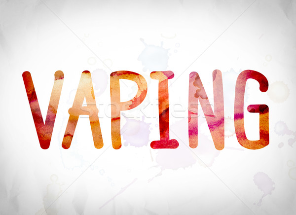 Vaping Concept Watercolor Word Art Stock photo © enterlinedesign