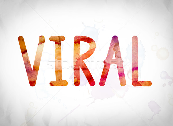 Viral aquarela palavra arte escrito branco Foto stock © enterlinedesign