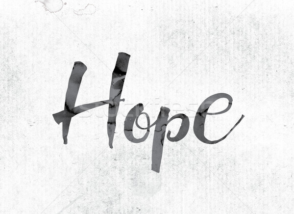 Hope Concept Painted in Ink Stock photo © enterlinedesign