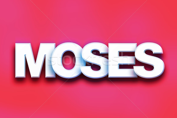 Moses Concept Colorful Word Art Stock photo © enterlinedesign