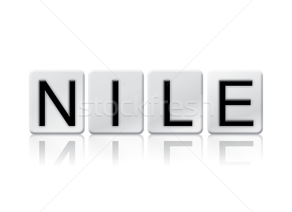 Nile Isolated Tiled Letters Concept and Theme Stock photo © enterlinedesign