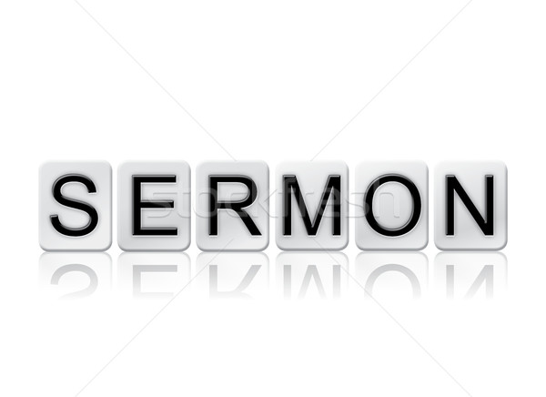 Sermon Isolated Tiled Letters Concept and Theme Stock photo © enterlinedesign