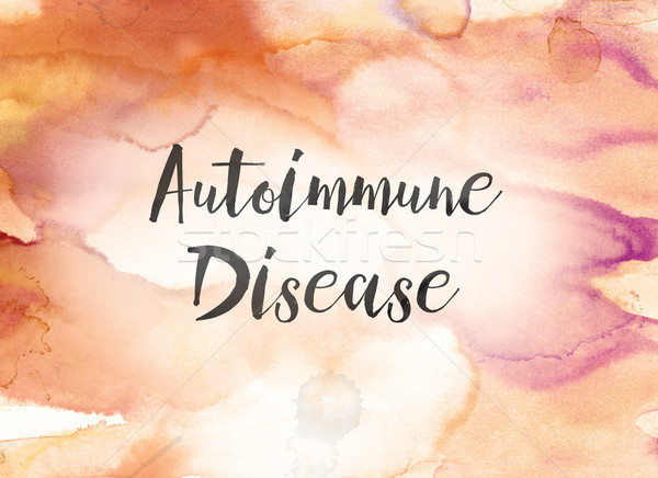 Autoimmune Disease Concept Watercolor and Ink Painting Stock photo © enterlinedesign