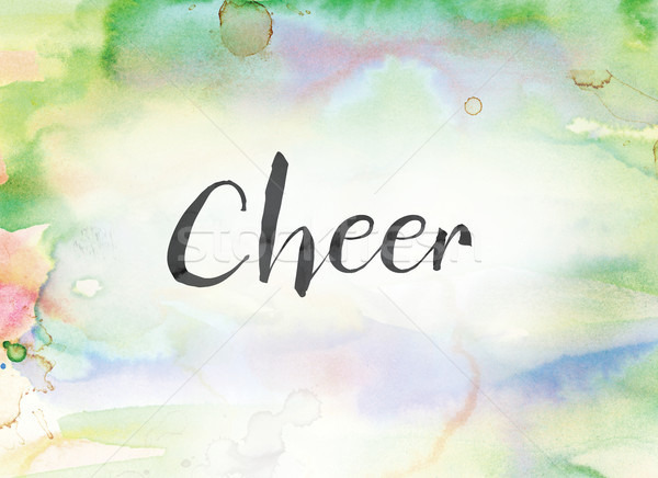 Cheer Concept Watercolor and Ink Painting Stock photo © enterlinedesign