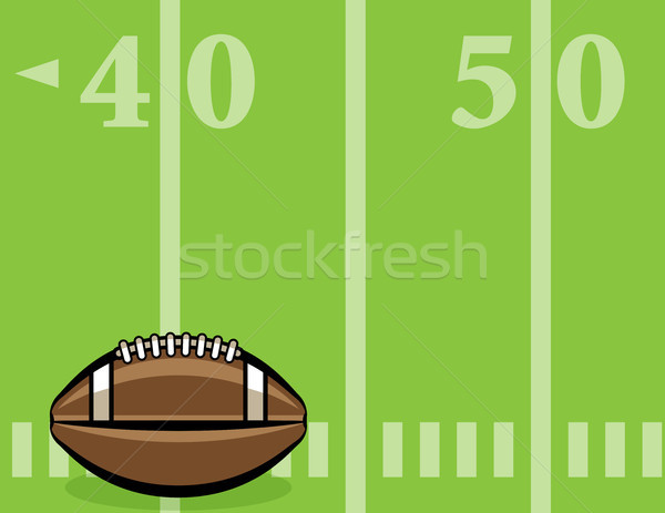 American Football Ball and Field Background Illustration Stock photo © enterlinedesign