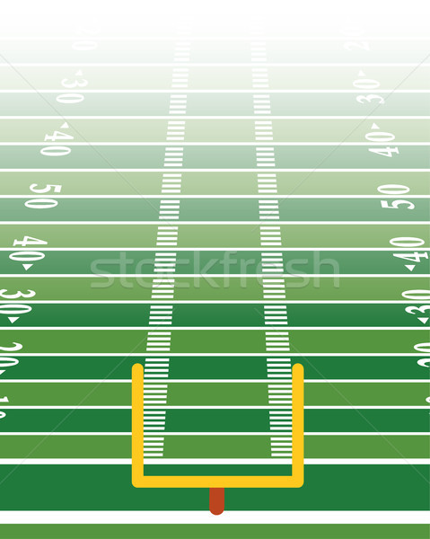 American Football Field Vertical Background Illustration Stock photo © enterlinedesign