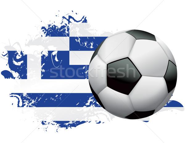 Greece Soccer Grunge Design Stock photo © enterlinedesign