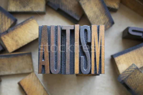 Autism Letterpress Type Stock photo © enterlinedesign
