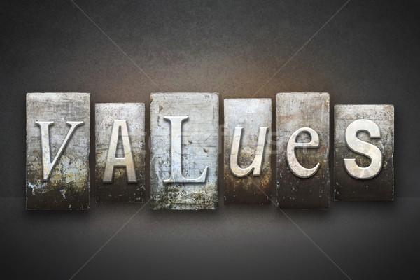 értékek magasnyomás szó írott klasszikus Stock fotó © enterlinedesign
