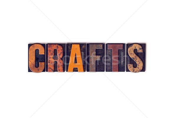 Crafts Concept Isolated Letterpress Type Stock photo © enterlinedesign