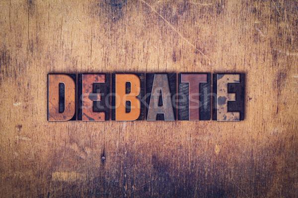 Debata typu słowo napisany Zdjęcia stock © enterlinedesign