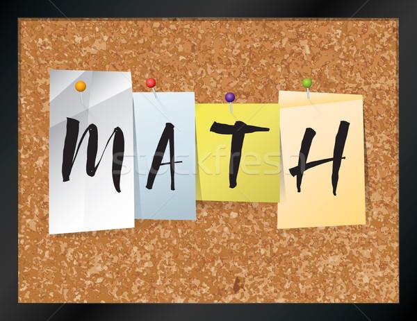 Matemática boletim conselho ilustração palavra escrito Foto stock © enterlinedesign
