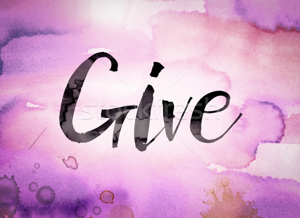 Give Concept Watercolor Theme Stock photo © enterlinedesign