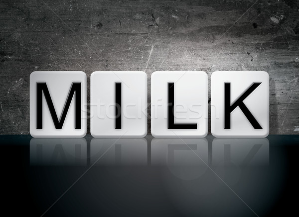 Milk Tiled Letters Concept and Theme Stock photo © enterlinedesign
