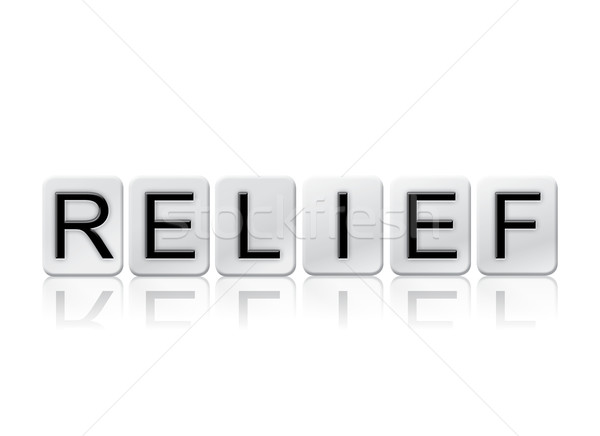 Relief Isolated Tiled Letters Concept and Theme Stock photo © enterlinedesign