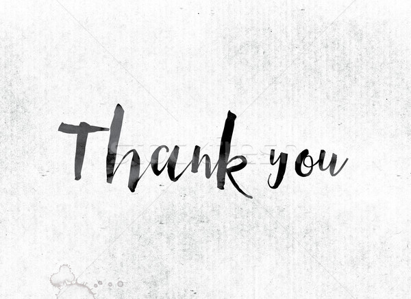Thank you Concept Painted in Ink Stock photo © enterlinedesign