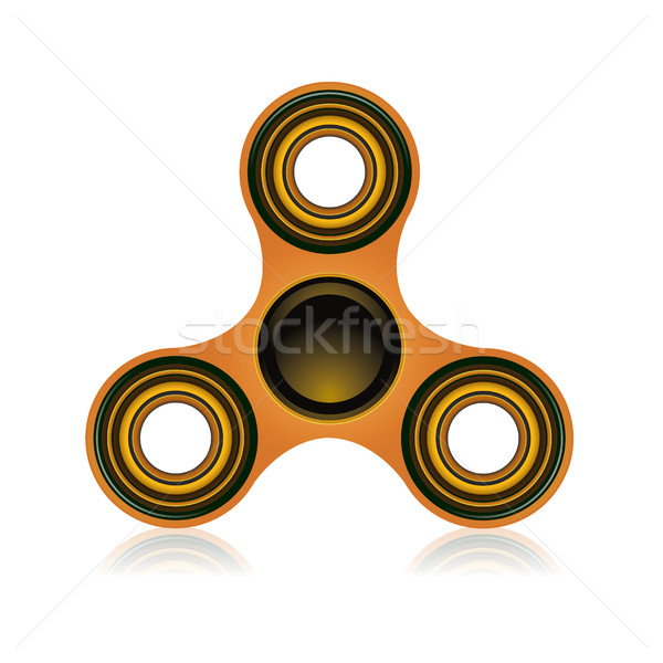Fidget Spinner Focus Toy Illustration Stock photo © enterlinedesign