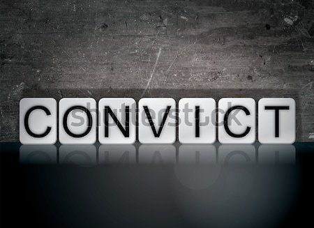 Convict Concept Tiled Word Isolated on White Stock photo © enterlinedesign