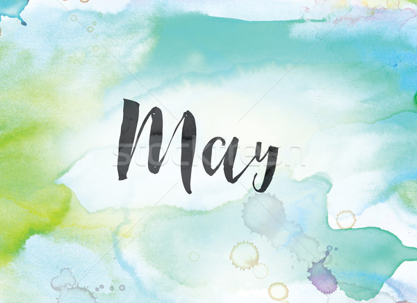 May Concept Watercolor and Ink Painting Stock photo © enterlinedesign