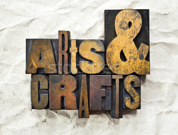 Arts & Crafts Letterpress Stock photo © enterlinedesign