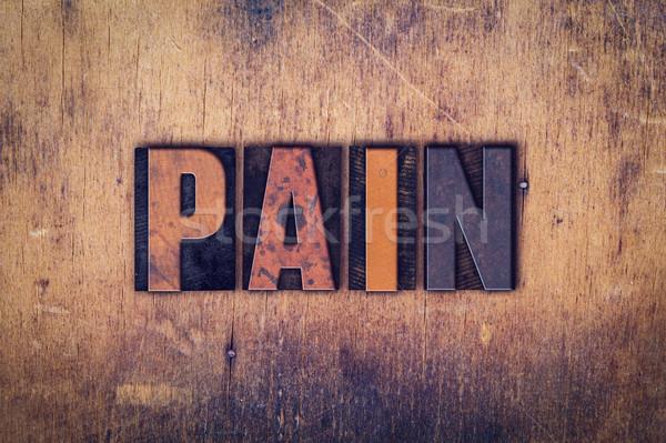 Pijn houten type woord geschreven Stockfoto © enterlinedesign