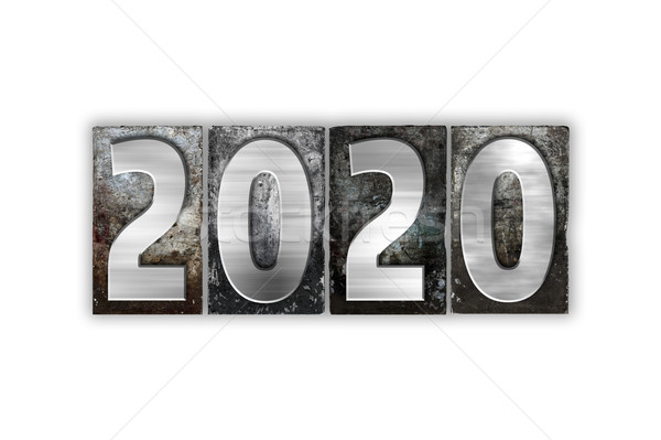2020 Concept Isolated Metal Letterpress Type Stock photo © enterlinedesign