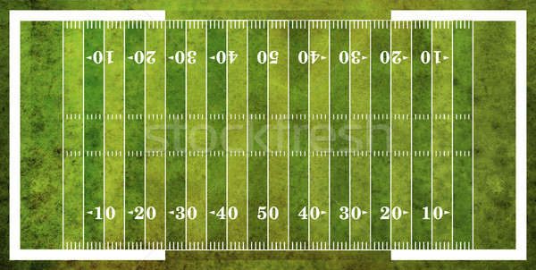 Aerial View of American Football Field Stock photo © enterlinedesign