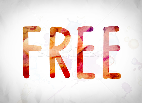 Free Concept Watercolor Word Art Stock photo © enterlinedesign