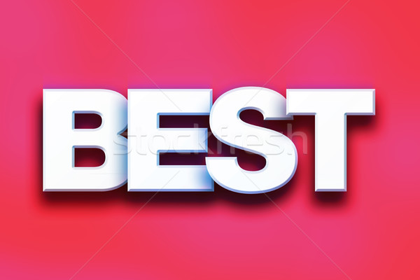 Best Concept Colorful Word Art Stock photo © enterlinedesign
