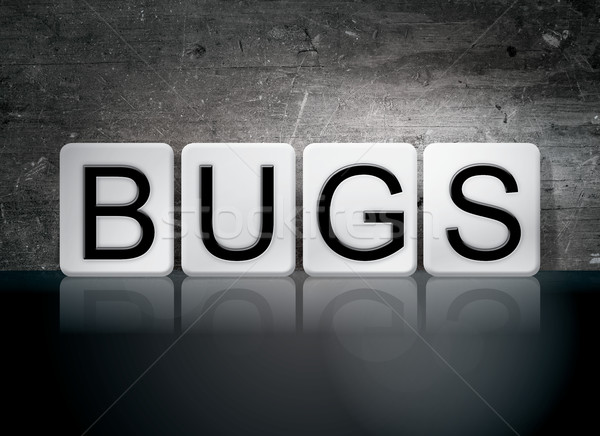 Bugs Tiled Letters Concept and Theme Stock photo © enterlinedesign
